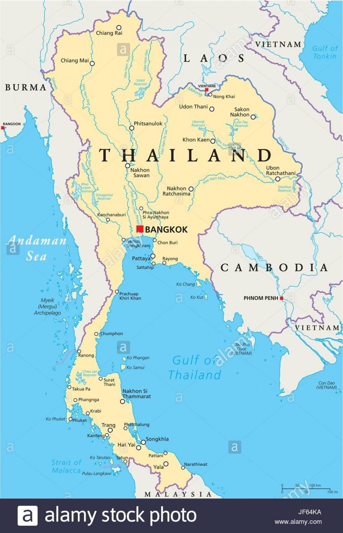 Bangkok Polohu Na Mape Sveta Bangkok Thajsko Mape Sveta Thajsko